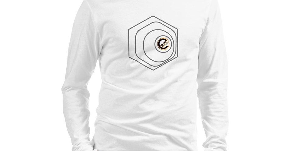 T-Shirt Bianca a maniche lunghe   GeometricUnique