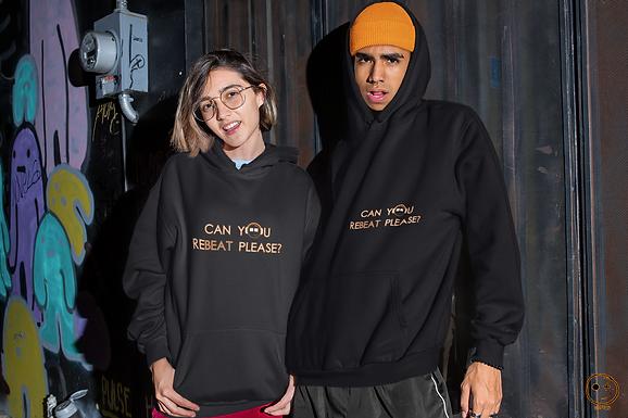 Sweatshirt Hoodie   Black reBeat