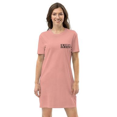 Organic cotton t-shirt dress   Smile Always