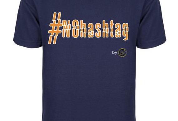 T-shirt #nohashTag 100%Cotone