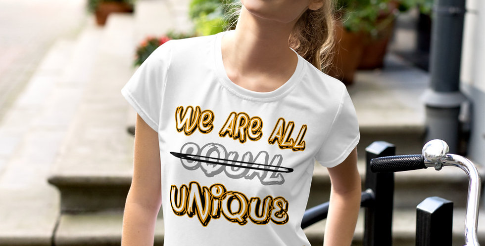 Crop T-shirt | We are all Unique