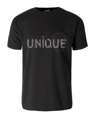T-shirt FingerUnique 100%Cotone b/w