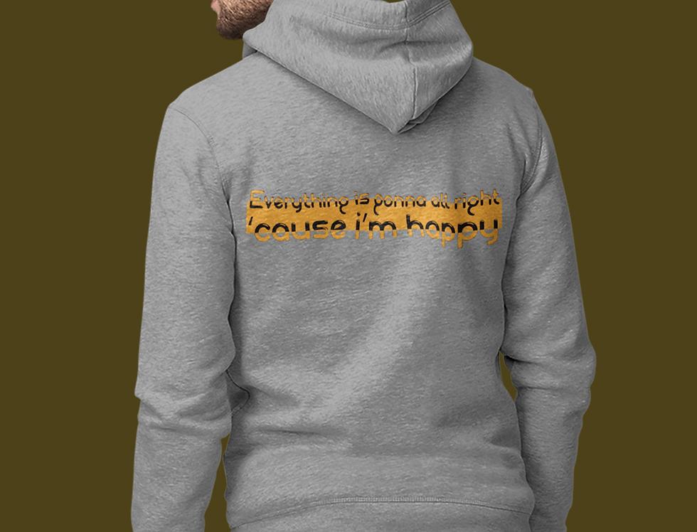 Hooded Zip Sweatshirt | I'm happy