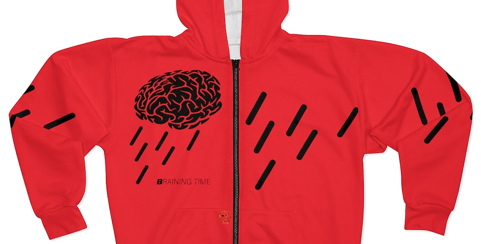 AOP Unisex Zip Hoodie | Braining Time