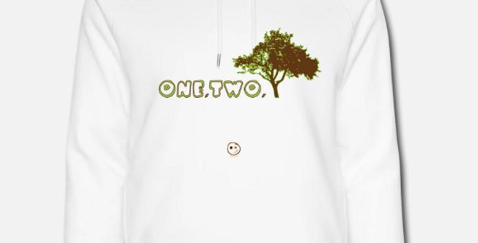 Felpa in cotone biologico |One, Two, Tree