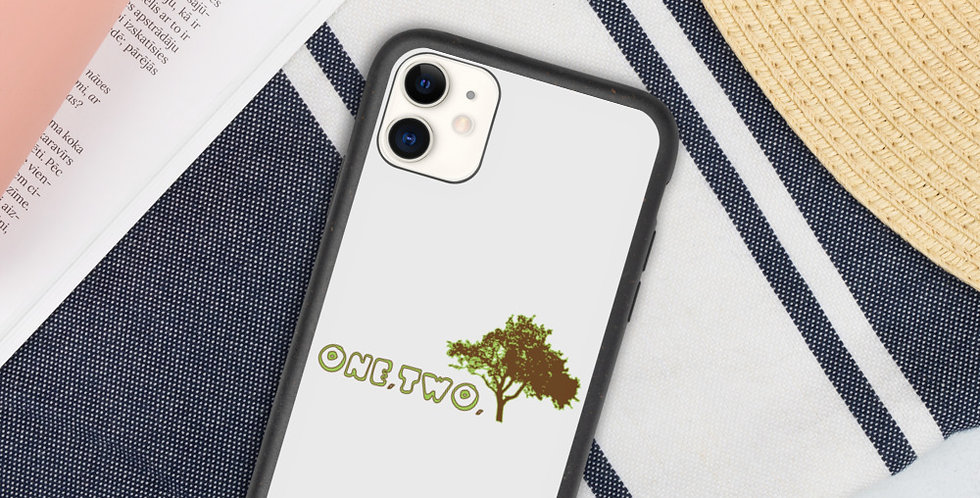 Custodia per Iphone Biodegradabile   One,Two,Tree