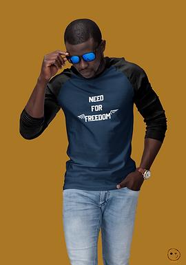 3/4 sleeve raglan shirt | Need for Freedom