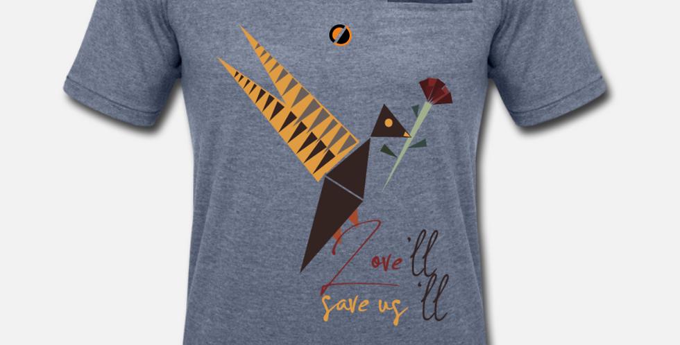 T-shirt con finto taschino | Love'll