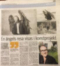 Artikel i Skånska Dagbladet om uttällningen i Madrid.