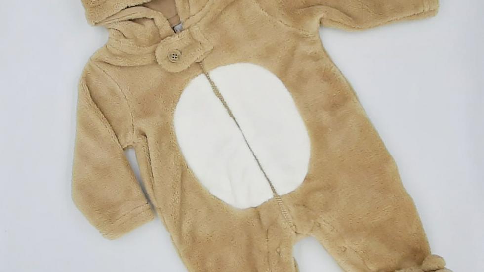 Macacão bebê caramelo ursinho RN Tip Top