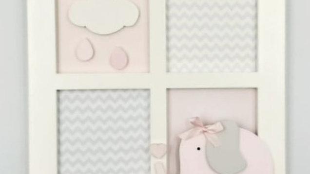 Enfeite janelinha para quarto de bebê - Formas e Cores