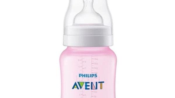 Mamadeira Avent Classic rosa 1m+  260 ml