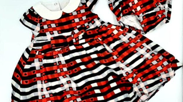 Vestido Gola tricoline