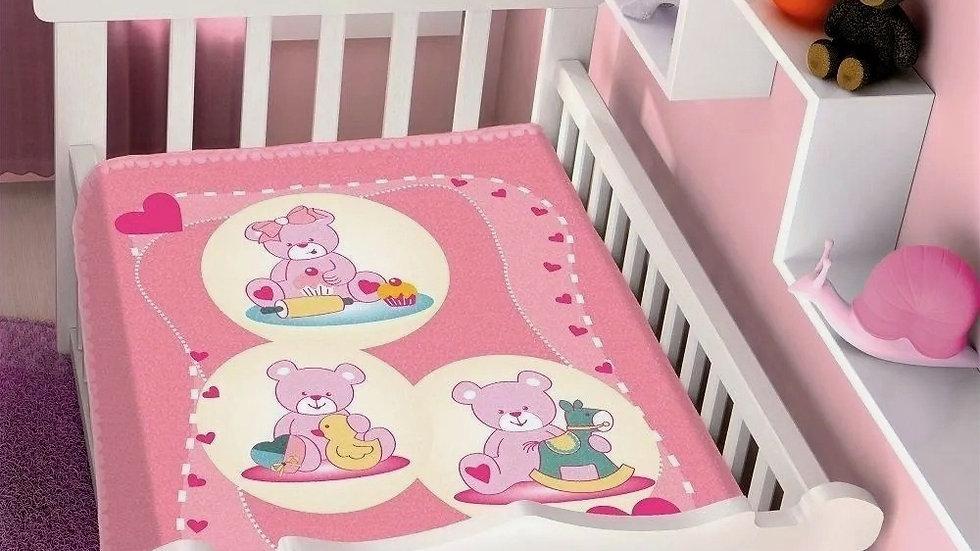 Cobertor infantil Raschel - 90cmx 1.10cm - Jolitex