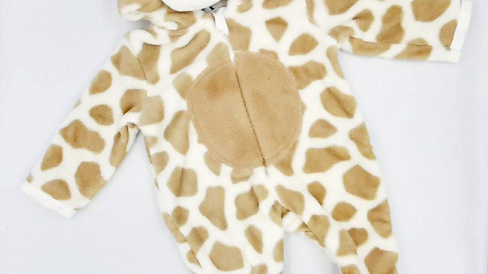 Macacão bebê neve off white girafa P Tip Top
