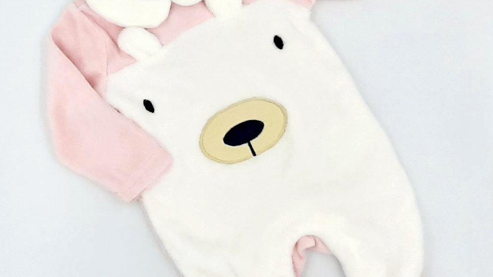 Macacão bebê rosa ursinho M Tip Top