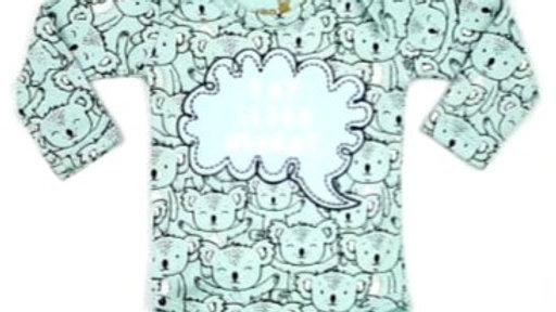 Body manga longa suedine coala P Kiko