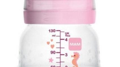 Mamadeiras Easy Start anticólica 130ml  rosa 0M+ MAM