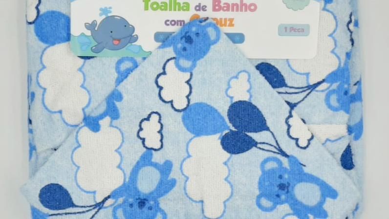 Toalha de banho com capuz com forro fralda Bercinho