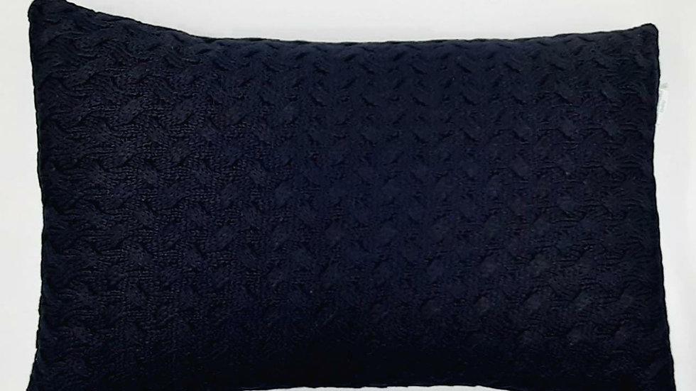 Enfeite decorativo tricot almofada marinho Batistela