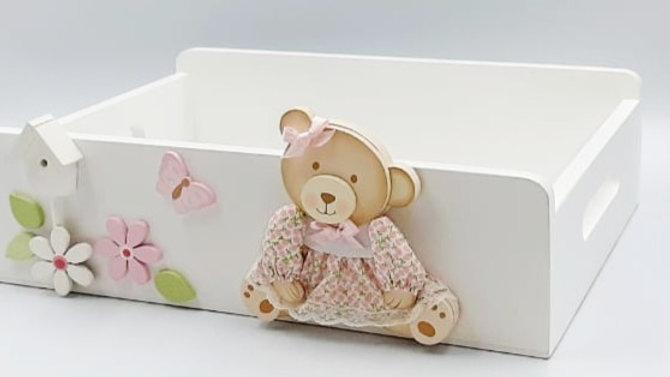 Caixinha  - suporte para potes higiênicos do bebê - Formas e Cores