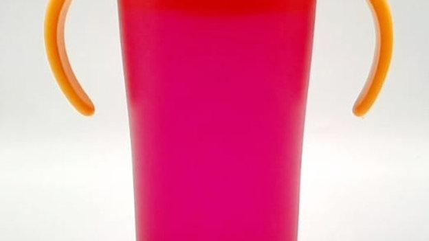 Copo de treinamento 360º rosa 260ml  6m+ Buba
