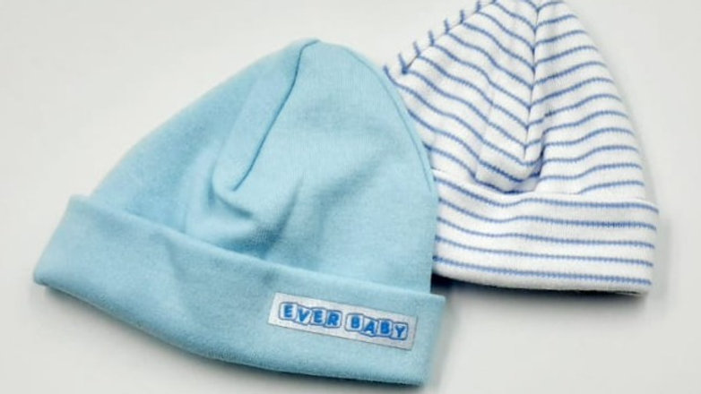 Touca suedine com 02 azul - Prematuro  - Everly