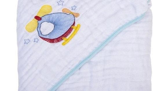Toalha fralda Soft com capuz de canto Baby Joy