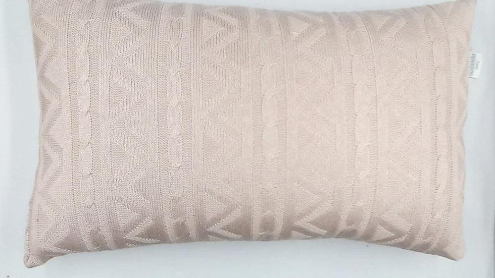 Enfeite decorativo tricot - almofada nude Batistela