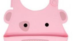 Babador de silicone porquinho rosa Marcus e Marcus