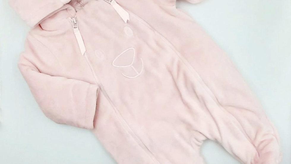 Macacão bebê rosa M Tip Top