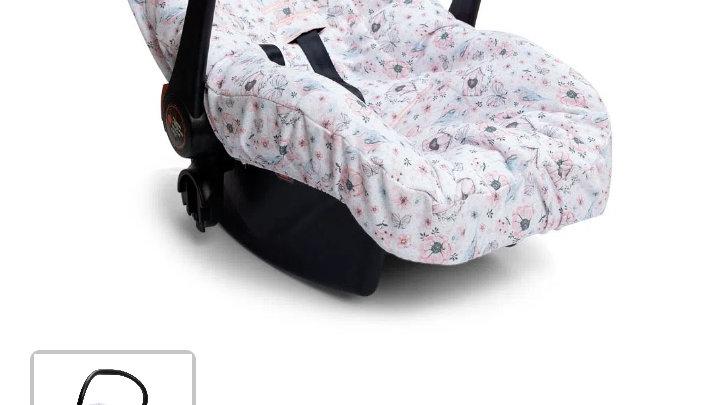 Capa para bebê conforto jardim rosa Hug