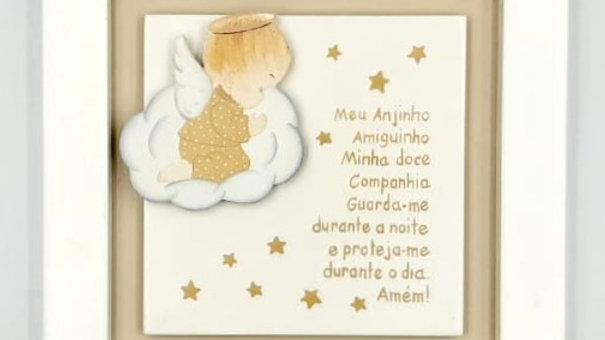 Quadro oração para quarto de bebê Formas e Cores