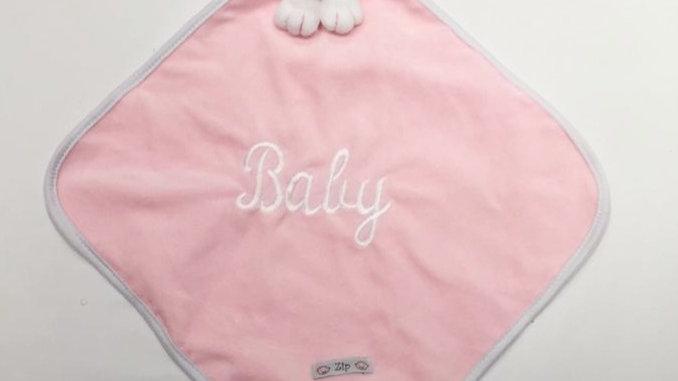 Naninha cetim rosa bebê Zip