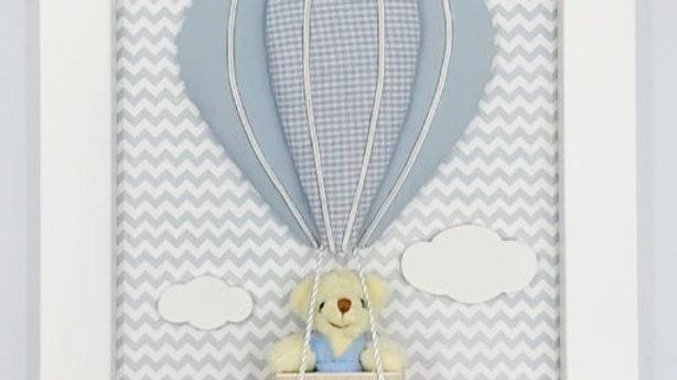 Quadro especial balão para quarto de bebê Formas e Cores