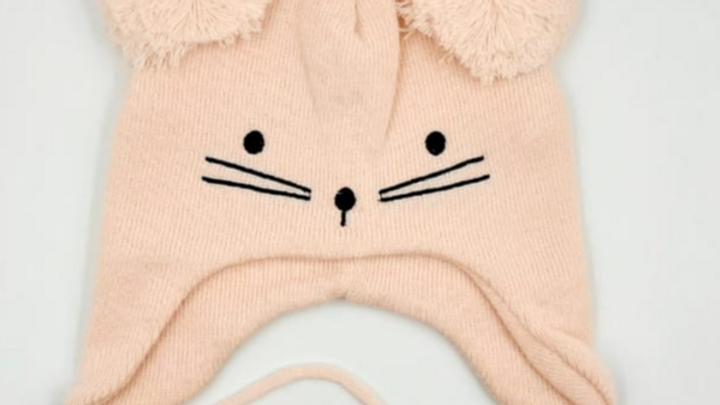Touca acrílico bordado gatinha M Everly