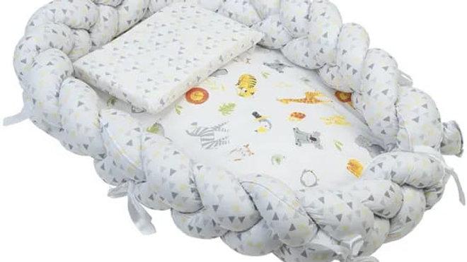 Kit ninho trança com travesseiro antissufocante Baby Joy