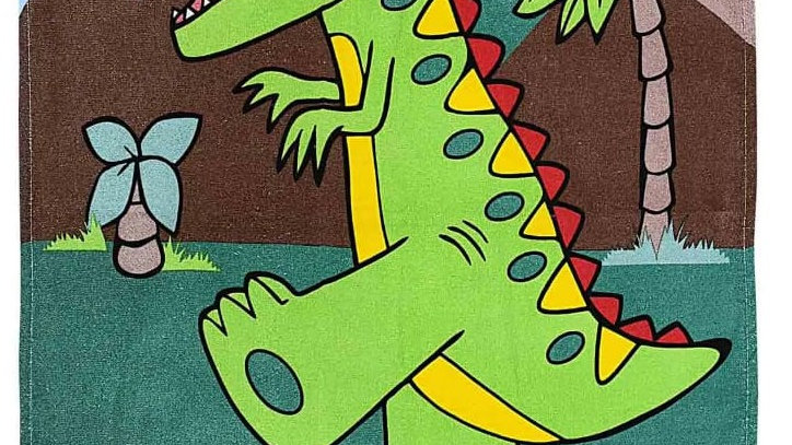 Toalha Kids estampado dinossauro Bambi