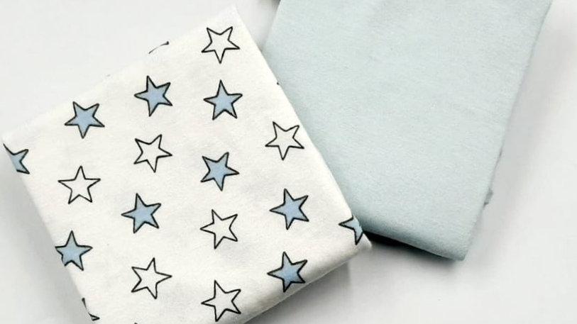 Fronha avulsa com 02 un estrela azul Din Don