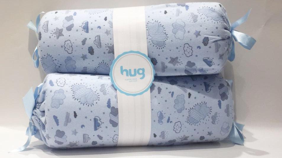 Rolinho segura bebê nuvens azul Hug