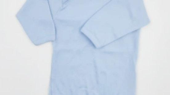 Body Top Chot malha manga longa azul 02