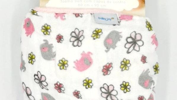 Toalha fralda Soft com capuz de centro Baby Joy
