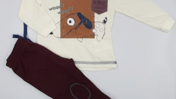 Conjunto camiseta/calça M Kiko