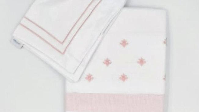 Jogo de lençol para mini-berço Baby Joy Premium