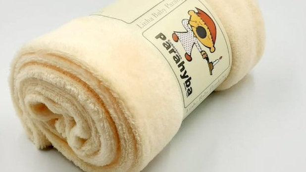 Cobertor bebê microfibra creme Parahyba