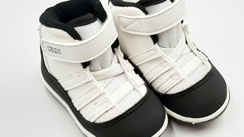 Sapato cano alto Cravinho Casual Preto/Branco KLIN 16