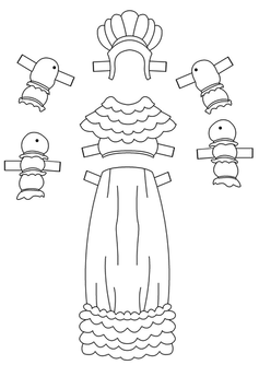 Paper Doll French Dress
