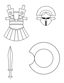 Paper Doll Greek Armor
