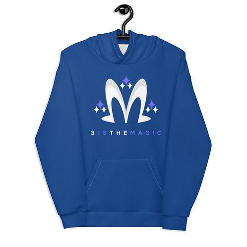 Premium Blue 3 Logo Hoodie