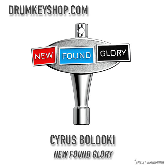 Cyrus Bolooki from New Found Glory Signature Drum Key